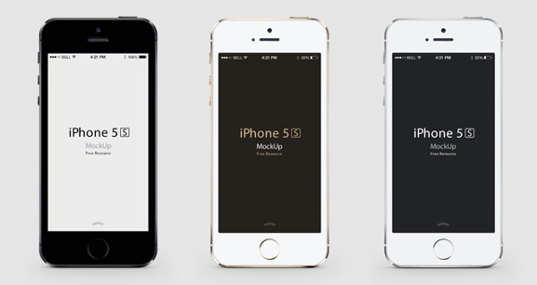 iPhone 5S PSD Vector Layers Mockup