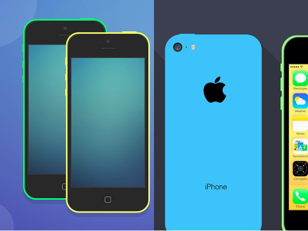 iPhone 5c mockups collection