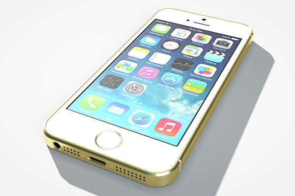 iPhone 5s Gold Layer Mockup