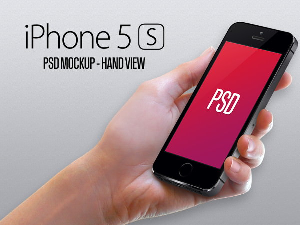 iPhone 5s Hand View mockup