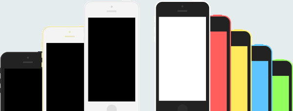 iPhone 5s and iphone 5c flat templates