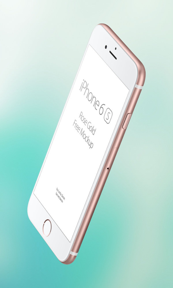 iPhone Free PSD Rose Gold Mockup