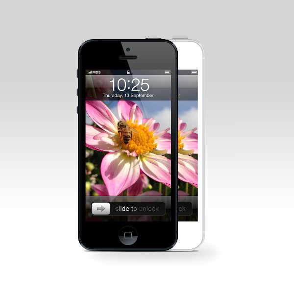 iphone 5 front view Mockup