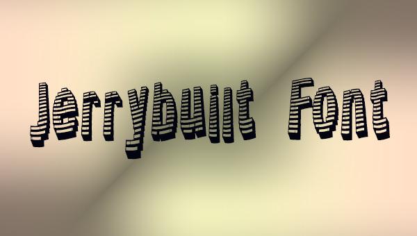 jerry-built-font