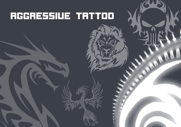 aggressive tattoo brushes