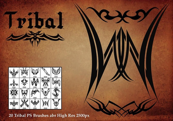 tribal tattoo brushes