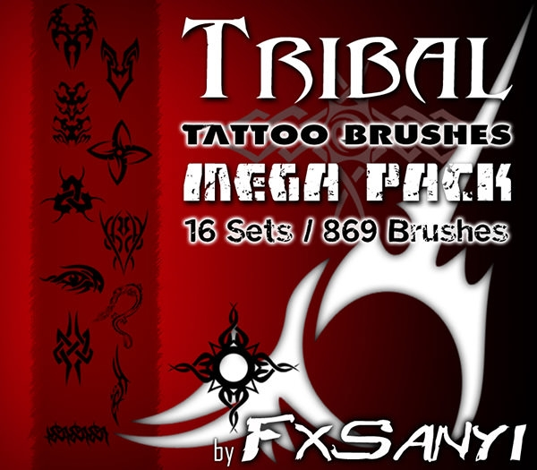 mega pack of tattoo brushes