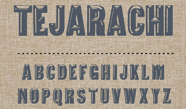 tejarachi-embossed-font