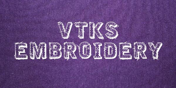 vtks-embroidery-font