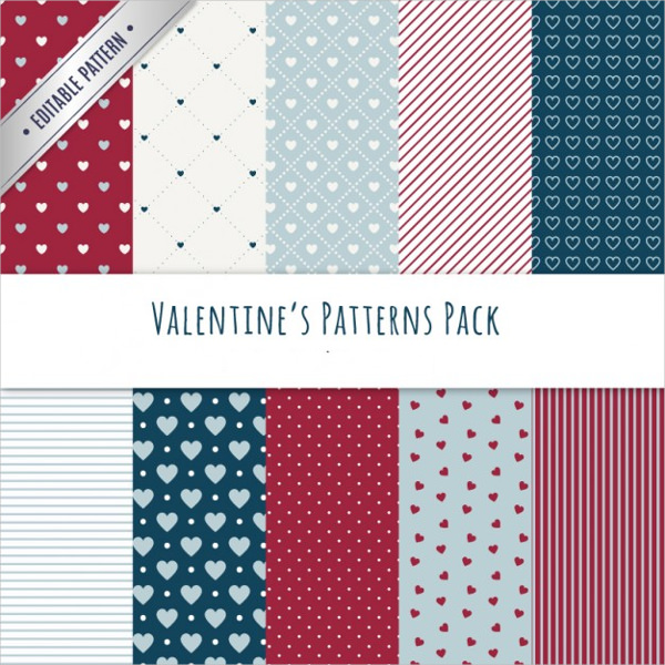 10 Beautiful Vector Valentines Day Pattern