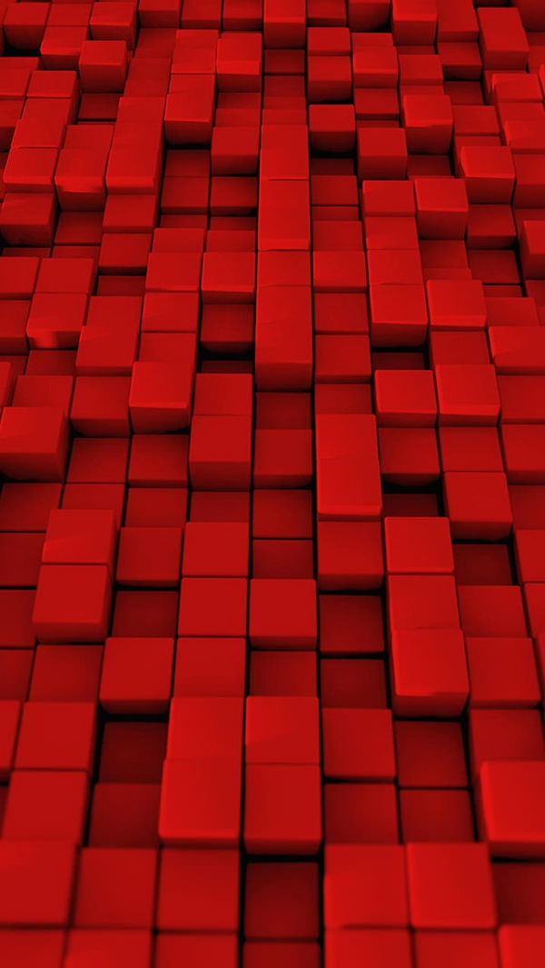 3D Red Cubes iPhone 5 Background