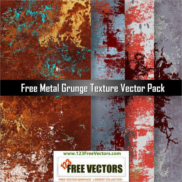 4 Free Metal Grunge Textures