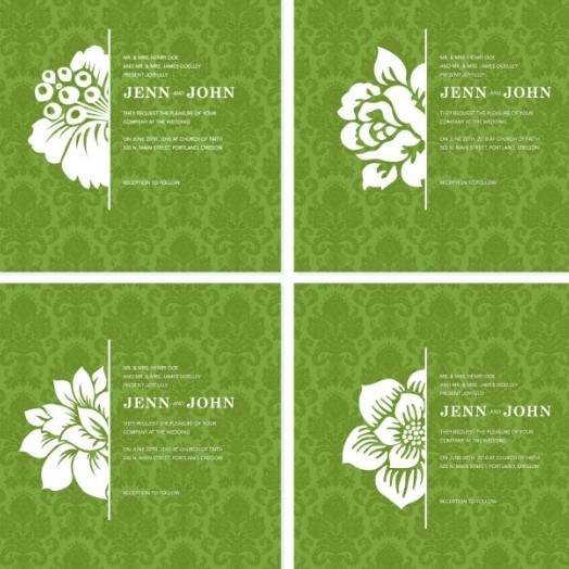 4-White-Vintage-Flower-Backgrounds-Vector
