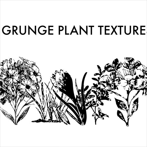5 Free Vector Grunge Plant Textures