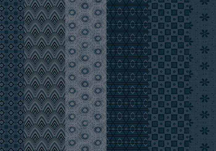 6 Free Tileable Midnight Blue Pattern Backgrounds