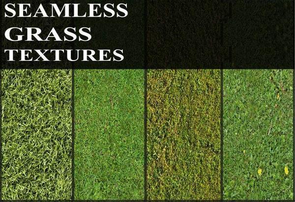 6 Seamless Green Grass Textures