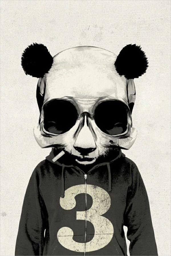 amazing panda background for free