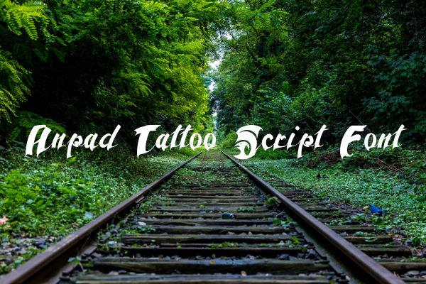 Anpad Tattoo Script Font