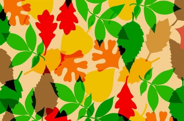 Autumnal Leaves Vector Pattern