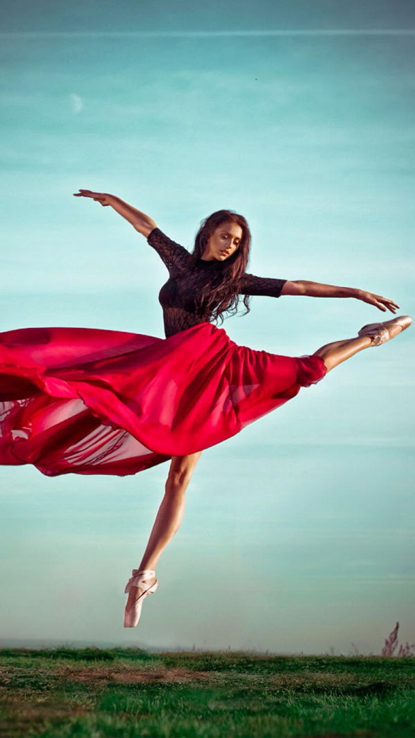 awesome dancer in red dress iphone 6 background
