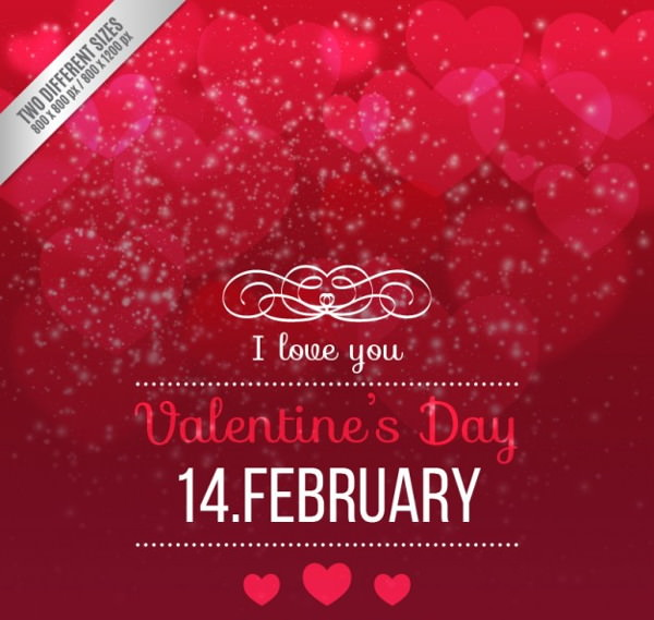 Awesome Free Vector Valentine Day Background