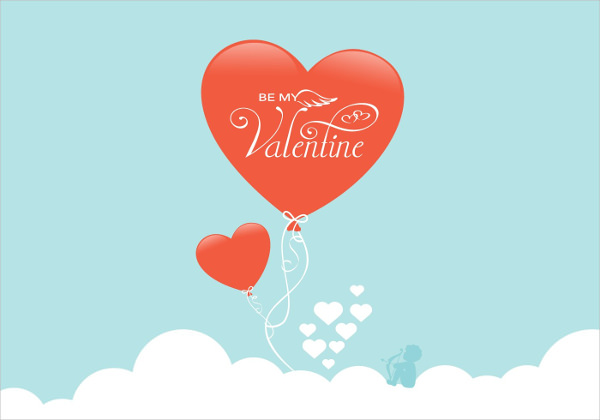 Be My Valentine Balloon Vector Banner