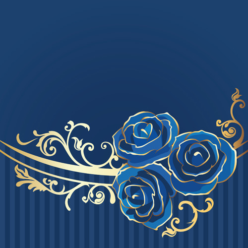 Beautiful Blue Rose Vintage Background