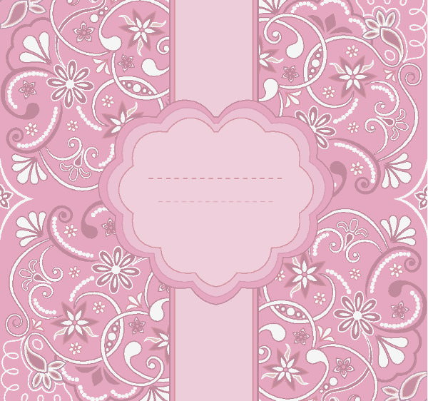 Beautiful Free Vintage Pink Floral Pattern Background