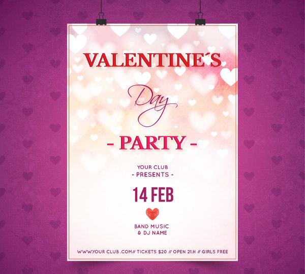Beautiful Valentine's day Poster Design