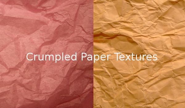 Best crumpled paper textures collection