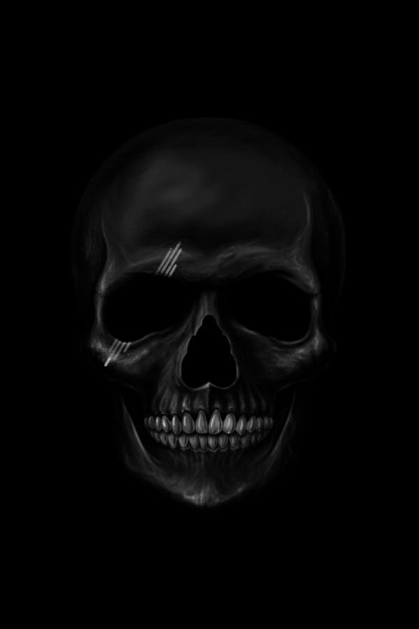 Black Scull Background For iPhone