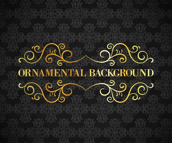 Black Vintage Ornamental Background