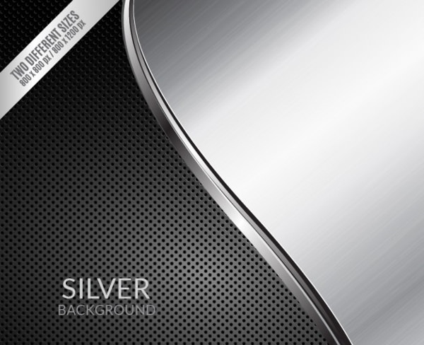 Black and Grey Silver Background with Wave