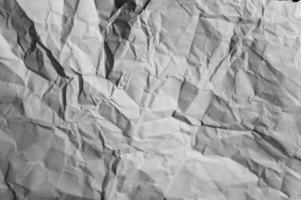 Black and White Crumpled Paper Texture