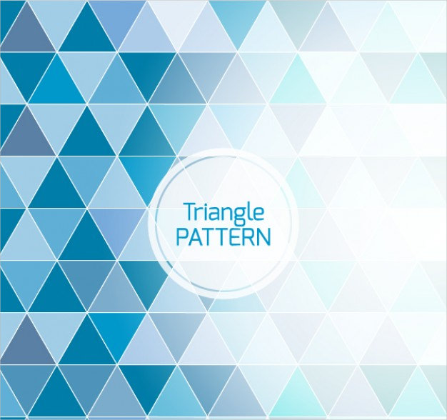 Blue Background Triangle Pattern For Free