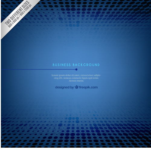 Blue Business Background Design