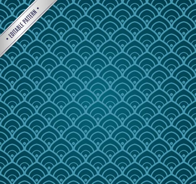 Blue Chinese Pattern Background Free Vector