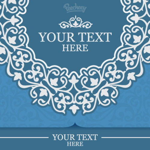 Blue Floral Free Vector Invitation Card Background