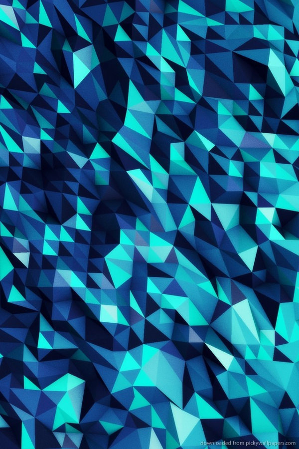 Blue Polygon Background For iPhone