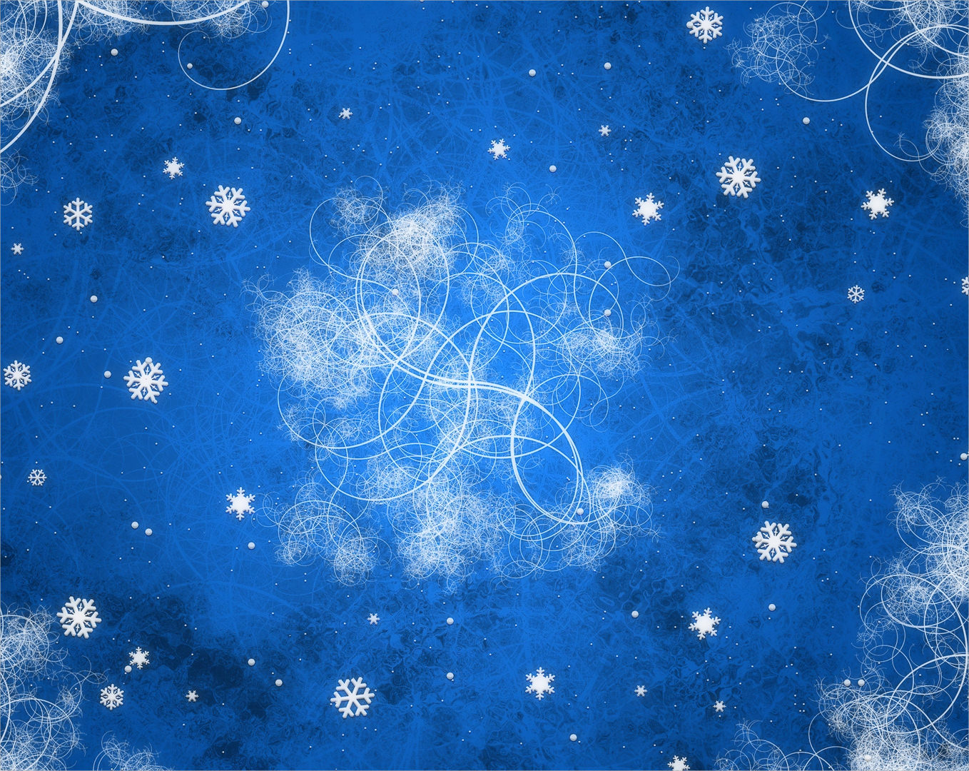 Blue Snow Flake Pattern Background