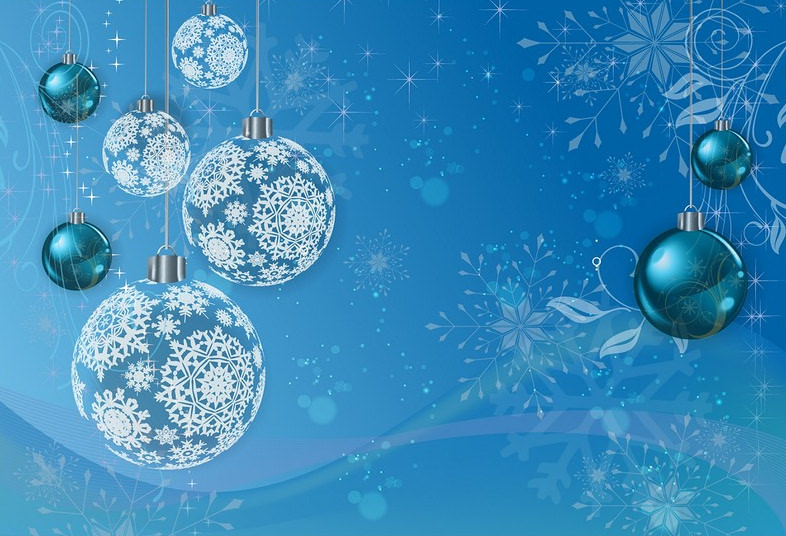 Blue Winter Holiday Pattern Background