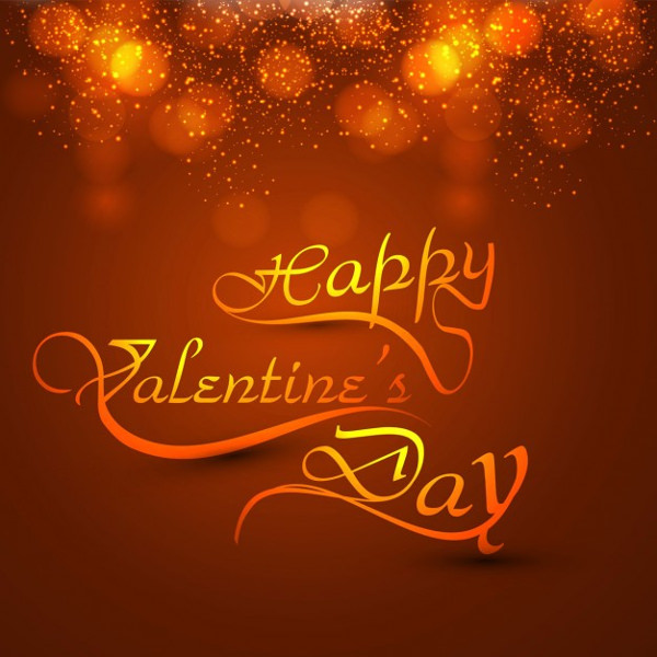 Bokeh Valentines Day Card Free Vector