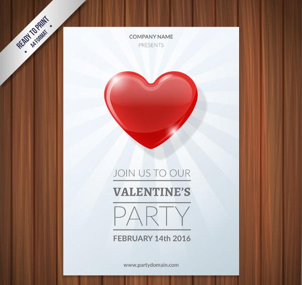Bright Heart Poster Design for Valentine's day