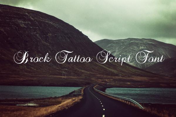 Brock Tattoo Script Font