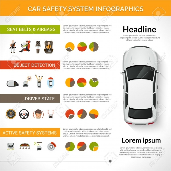 Car Safety Driver Infographic Presentation