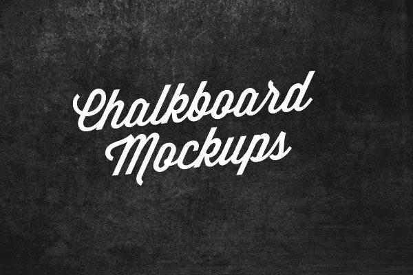 Chalkboard lettering mockup PSD