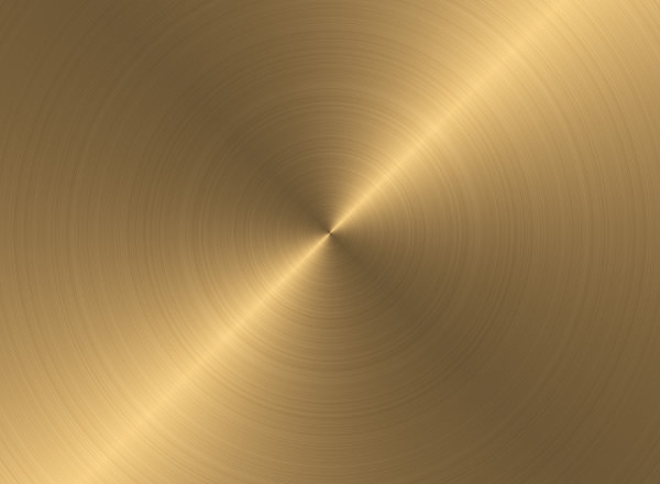 Circular Brushed Gold Metal Texture