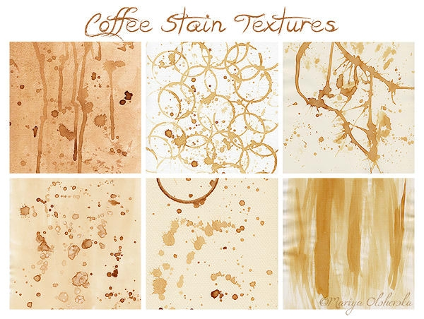 Coffee Stain Textures Pack
