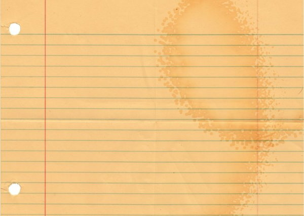 Coffee Stains on Lined Paper Texture