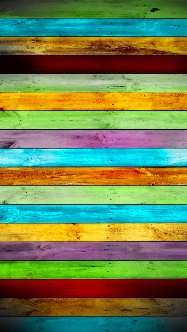 Colored Wood Planks iPhone Background